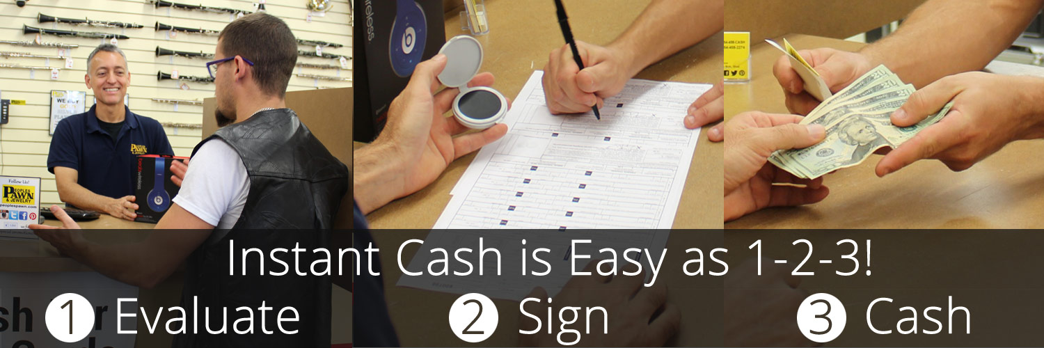 Instant Cash is Easy as 1-2-3!